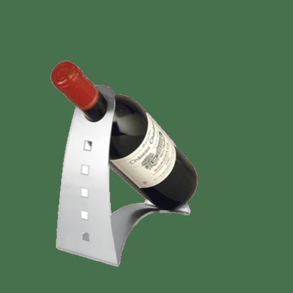 Schöner Weinflaschenhalter aus Edelstahl